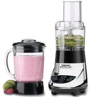 Cuisinart Duet Glass Jar Blender Food Processor FPB 5CH Chrome