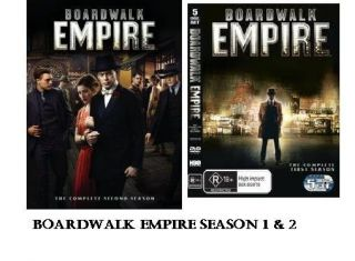 Boardwalk Empire DVD SET SEASONS 1 2 SEASON 2 JUST RELEASED NEW FREE