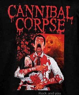 Cannibal Corpse Death Metal Rock RARE T Shirt M 2XL