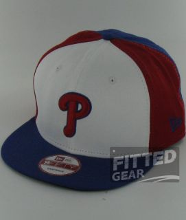 Phillies Block Red White Blue New Era 9Fifty Snapback Hats Caps