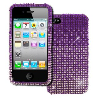 Empire Hard Full Diamond Bling Purple Fade Case Cover for Apple iPhone