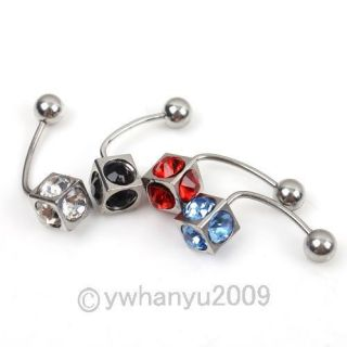 Crystal Navel Belly Button Ring Bar Body Jewelry Pick