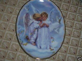 Angel Kisses Sandra Kuck on Angels Wings Plate