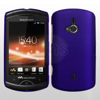 Blue Hybrid Hard Case Cover For Sony Ericsson WT19i Live with Walkman