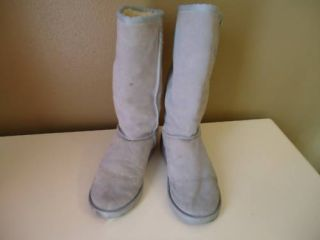 W6 M7 Emu Baby Blue Tall Winter Boots Women Men Used