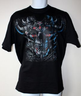 Liquid Blue Rock Affliction Skull T Shirt Men Woman New