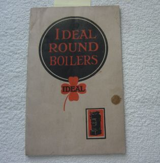 IDEAL ROUND BOILER HEATER FURNACE RADIATOR 1922 CATALOG ASBESTOS
