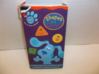 Blues Clues   Shapes and Colors Kids dog VHS cartoon video tape