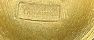 RARE Vintage Crown Trifari Egyptian Revival Scarab Pendant Necklace