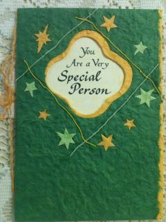 Blue Mountain Art Card Very Special Person  Hand Made Recycled Paper
