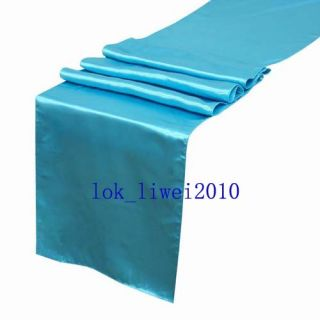 5pcs Turquoise Satin Table Runners 12 x 108 Wedding