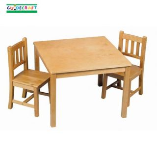 wooden kids wood mission craft table chairs set honey oak