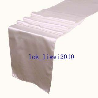 5pcs New White Satin Table Runners 12 x 108 Wedding