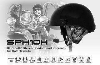 SENA SPH10H Bluetooth Half Helmet Headset & Intercom w/ FREE Wall