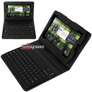 Bluetooth Keyboard Folio Leather Case Stand For Blackberry Playbook