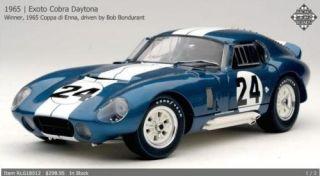 Exoto 1 18 1 18 Bob Bondurant 24 1965 Cobra Daytona Coupe RLG18012
