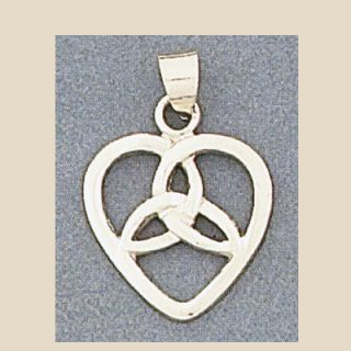 sterling silver celtic triquetra heart triad pendant pendant measures