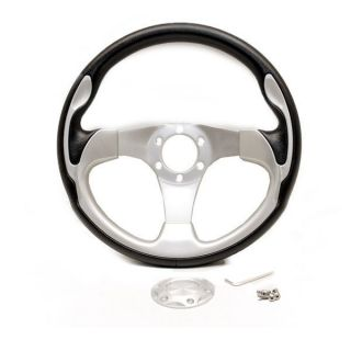 13 1 2 inch Black Silver Boat Steering Wheel Without Hub