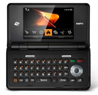 boost mobile sanyo innuendo scp 6780 prepaid cell phone camera qwerty