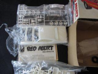 Vintage AMT Model Car Kit Bob Hamilton Red Alert Chevy Chevelle SS 1