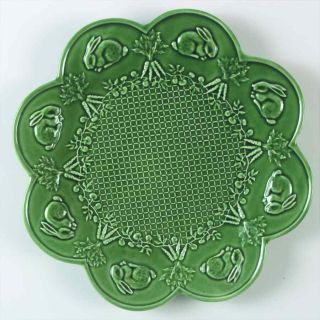 Bordallo Pinheiro Rabbit Green Chop Plate Round Platter