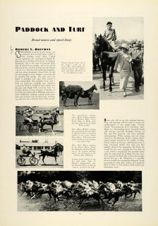 1931 Article Horse Racing Jockeys Harness Racing Mary Tipton Macy