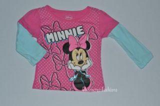 Minnie Mouse 2T 3T 4T 5T Girls Shirt Tee Top Disney