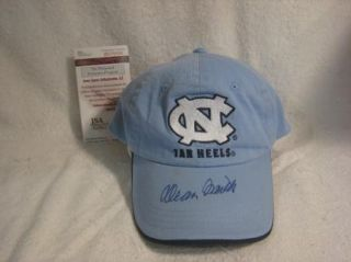 Dean Smith Signed UNC Tarheels Cap Hat JSA COA