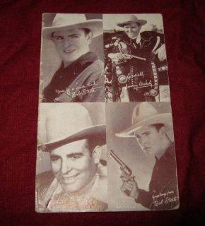 COWBOY Classic old Western Photo Card Bob Steele Colt Revolver gun