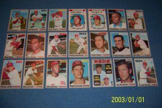 1970 Topps Cincinnati Reds Team Lot Johnny Bench Tony Perez Pete Rose