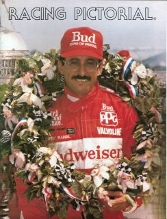 RACING PICTORIAL MAGAZINE BOBBY RAHAL INDY NASCAR INDY 500 COVERAGE