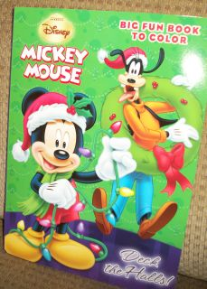 Disney Mickey Mouse Deck The Halls Big Fun Coloring Book 2012