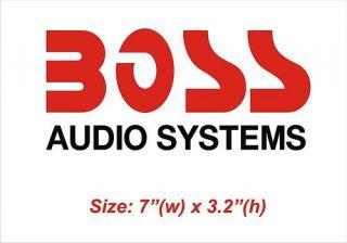 Boss Audio Systems Speakers Amp 7 Vinyl Sticker Decal