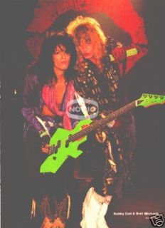 Poison Pinup 80s Hair Metal Bret Michaels Bobby Dall