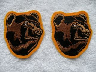 TWO NHL BOSTON BRUINS BEARS HOCKEY JERSEY CREST SHOULDER PATCHES FREE
