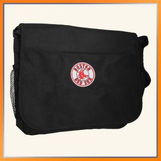 Boston Red Sox Messenger Bag By Pangea Brands Black MLB NFL Laptop