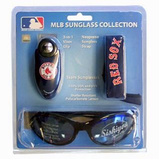 mlb boston red sox logo sunglass set includes high quality team