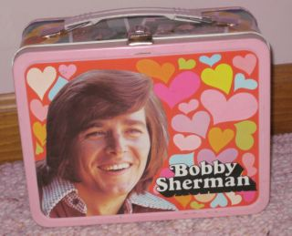 Dreamy Bobby Sherman Metal Lunchbox with Thermos