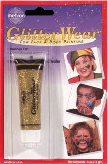 Gold Glitter Wear Face Body Painting Sparkles