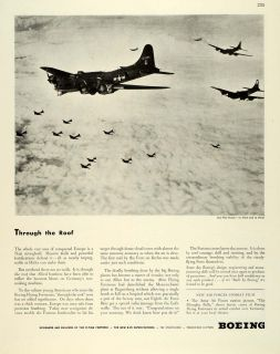 1944 Ad Boeing Co WWII B 17 Flying Fortress Army Air Corps Heavy