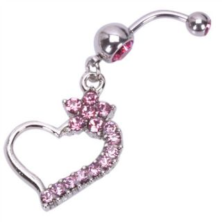 Irregular Heart Barbells Navel Belly Button Ring Body Jewelry