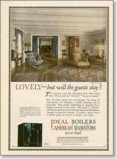 1924 American Boilers Radiators Heating Ad