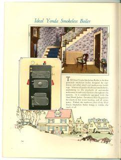 1925 Catalog American Radiator Co Ideal Yonda Boilers