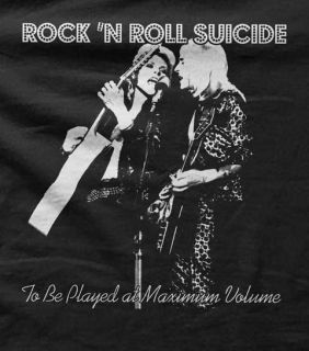 David Bowie Mick Ronson Rock N Roll Suicide Ladies Tank Top All Sizes