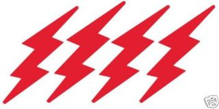 Red Lightning Bolt Bicycle Reflective Stickers Decals
