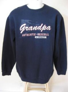Mens Big & Tall Croft & Barrow LT Warm Grandpa Navy Blue Crewneck
