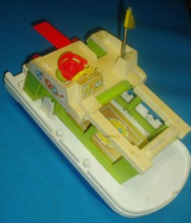 Fisher Price Little People Fishing Boat Vintage Toy
