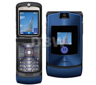 NEW IN BOX MOTOROLA V3i BLUE UNLOCKED AT T T MOBILE GSM PHONE