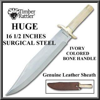 Bone Custom Bowie Hunting Knife 16 1 2 The Renegade