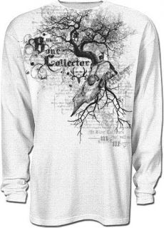 Bone Collector Tree Skull Mens Thermal Shirt New